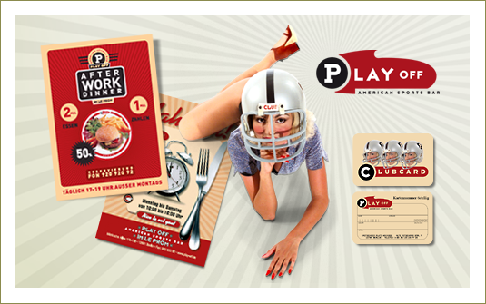 Client: Play Off Holding GmbH<br> Werbeflyer und POS Material<br>© agentur-puzzle.de|sign - 2000 | 2001<br><br>